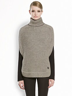 Gucci - Alpaca & Merino Wool Turtleneck Poncho