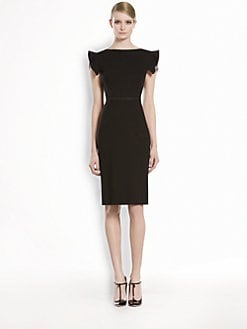 Gucci - Belted Shoulder Detail Dress