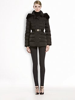 Gucci - Fur-Trimmed Hooded Puffer Jacket