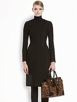 Gucci - Wool Natte Asymmetrical Coat