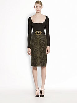 Gucci - Jacquard Lace Pencil Skirt