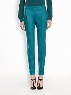 Gucci - Stretch Flannel Pleated Pants