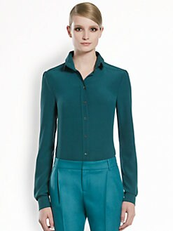 Gucci - Silk Crepe de Chine 70s Blouse