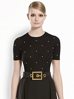 Gucci - Merino Wool Polka Dot Top