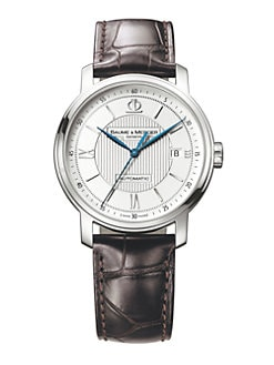 Baume & Mercier - Automatic Alligator Strap Watch