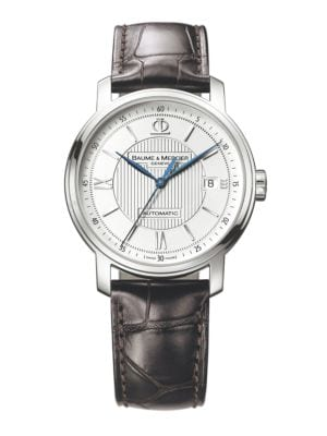 Classima 8791 Stainless Steel & Alligator Strap Watch