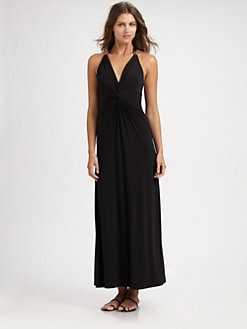 Natori - Twist-Front Maxi Dress