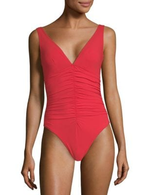 KARLA COLLETTO SWIM One-Piece Ruched-Center Swimsuit