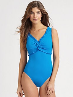 Karla Colletto Swim - One-Piece Ruffle-Trim Swimsuit