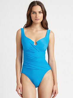 Miraclesuit Swim - One-Piece Notched Swimsuit