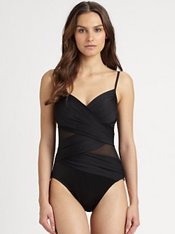Miraclesuit Swim - One-Piece Mystify Mesh-Cutout Swimsuit