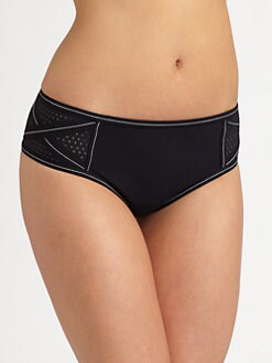 Karla Colletto Swim - Perforated Mid-Hip Bikini Bottom