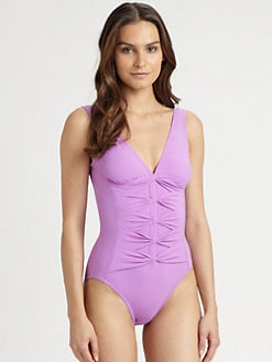 Karla Colletto Swim - One-Piece Bow Swimsuit