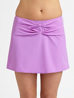 Karla Colletto Swim - Bows A-Line Swim Skirt