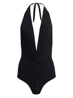 Karla Colletto Swim - One-Piece Halter Swimsuit
