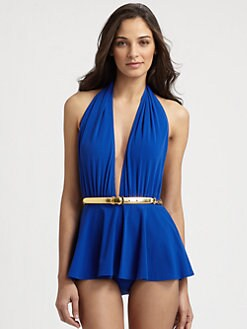 Michael Kors - One-Piece Skirted Empire Swimsuit