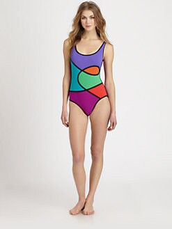 Karla Colletto Swim - One-Piece Abstract-Print Swimsuit