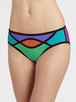 Karla Colletto Swim - Abstract-Print Bikini Bottom