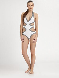 Karla Colletto Swim - One-Piece Cutout  Swimsuit