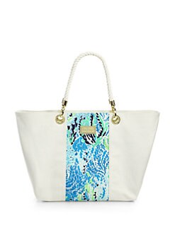 Lilly Pulitzer - Canvas &amp; Rope Island Tote <br>