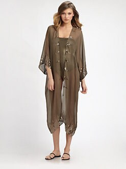 Marie France Van Damme - Silk/Sequin Coverup