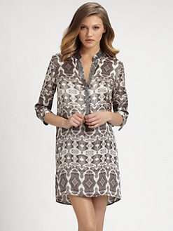 Marie France Van Damme - Silk Short Caftan