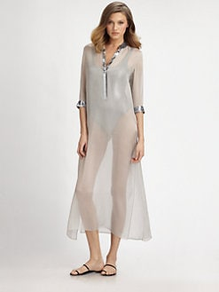 Marie France Van Damme - Silk Long Caftan