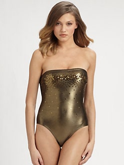 Marie France Van Damme - One-Piece Sequin-Detail Swimsuit