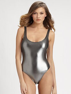 Marie France Van Damme - One-Piece Sleek Swimsuit