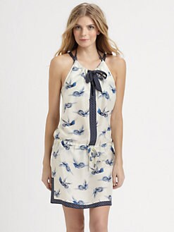 Tory Burch - Silk Montecito Bird-Print Dress