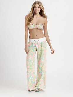 Lilly Pulitzer - Paisley Linen Beach Pants
