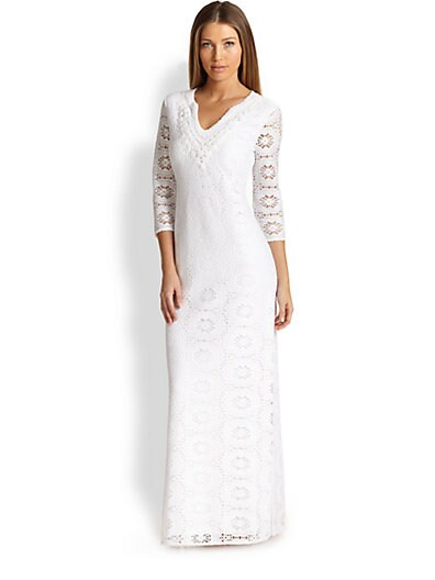0876923c38a6a4 Lilly Pulitzer Sharrie Caftan Coverup Resort White on PopScreen