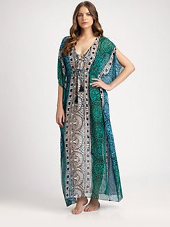 Tory Burch - Silk Tofino Long Caftan