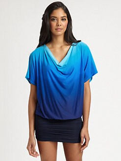 Carmen Marc Valvo - Draped Kimono Top