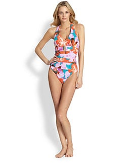 Spanx - One-Piece Belted Beauty Halter Swimsuit