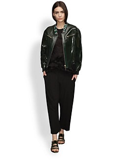 Marni - Perforated Patent Leather Jacket