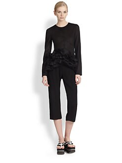 Marni - Cotton Ruffle-Hem Blouse