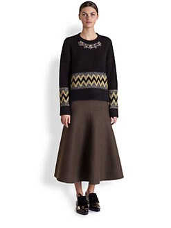 Marni - Embroidered Crewneck Sweater