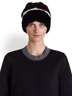 Marni - Striped Mink Fur Hat