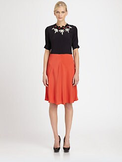 Marni - Embellished Colorblock Crepe Dress