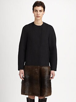 Marni - Beaver Fur-Paneled Wool-Blend Coat