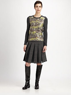 Marni - Tree Print-Paneled Sweater