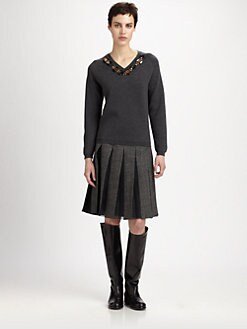 Marni - Jewel-Embellished Wool Sweater