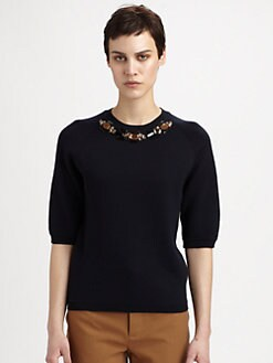 Marni - Wool Jewel-Embellished Sweater