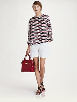 Marni - Patterned Twill Top