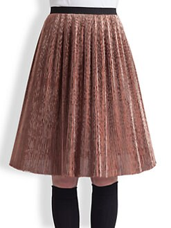 Marni - Metallic Plissé Skirt