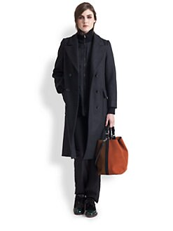 Marni - Double-Breasted Wool & Cashmere-Blend Coat
