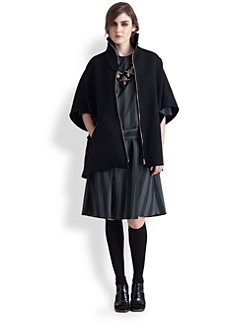 Marni - Reversible High Neck Cape Coat