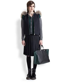Marni - Shearling & Raccoon Fur-Trimmed Vest