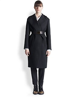Marni - Embellished-Collar Wool Coat